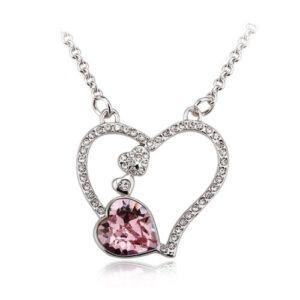 The Heart Necklace, pendant, Austrian crystal, wedding, gift, bride, flower girl