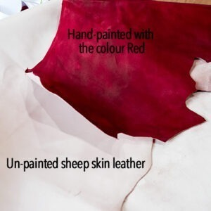 Leffler Leather Raw & Painted