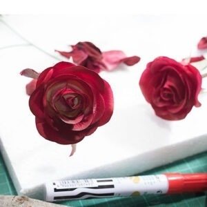Real Touch Hand Painted Rose