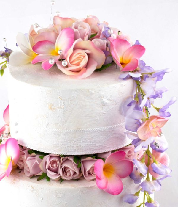 Cake Decorations frangipani, artificial wedding flowers