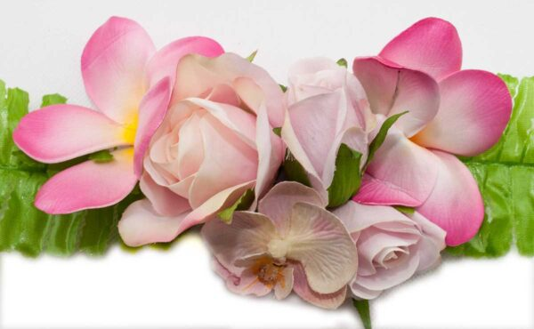 Close up of silk rose buds, wedding flowers, artificial, fake, faux