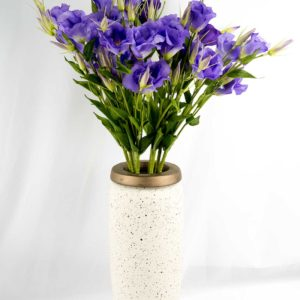 Aria Ceramic Vase with flowers