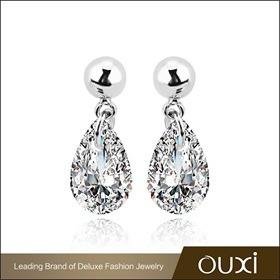 Crystal Drop Earrings, Silver, wedding, bride, gift, party