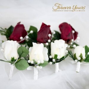 boutonnieres, roses