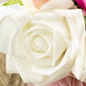 Bridal White Real Touch Rose, artificial wedding flowers
