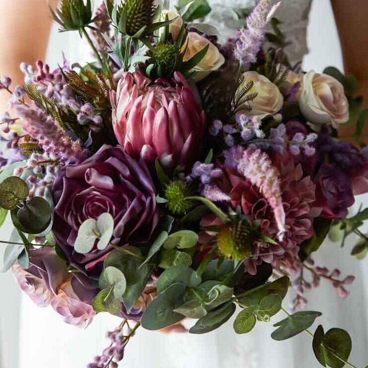 Hand-painted artificial wedding bouquet