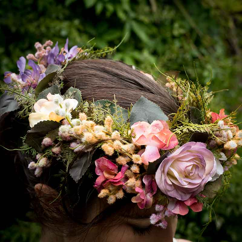 Hand Painted Artificial Flower Crown