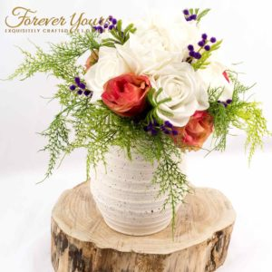 Real Touch & Silk Bridal Bouquet made in Melbourne, handmade, ceramic, pottery