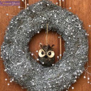 Belle Owl Christmas Wreath