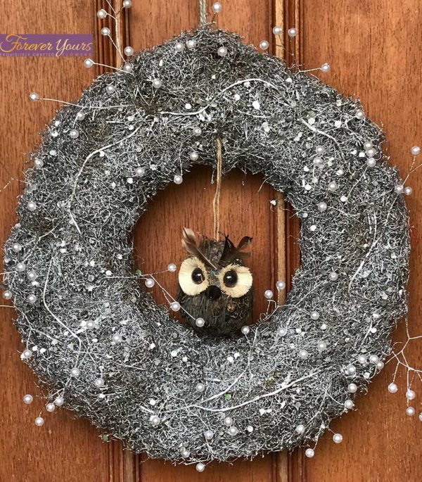 Belle Owl Christmas Wreath