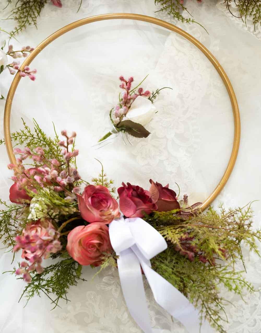 A Spectacular brass Flowergirl ring