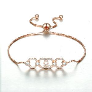 Rose Gold Linear Chain Bracelet, Dior design, wedding, bride, gift, adjustable