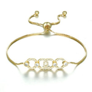 Gold linear Chain Bracelet, dior linked, bride, wedding, gift