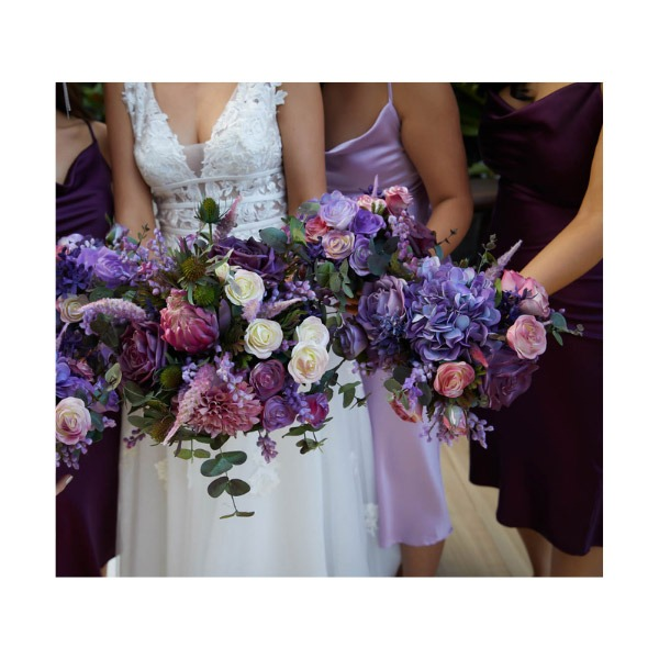 Hand-painted, personally designed artificial flowers