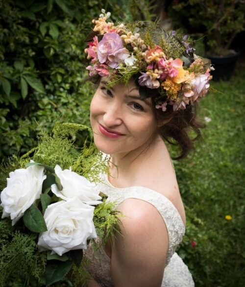 Hand-painted flower crown for your next wedding or hens party