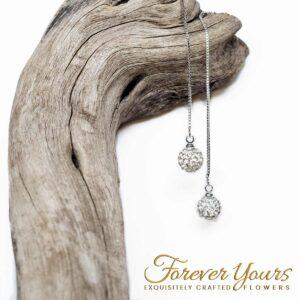 Silver Drop Chain Earrings