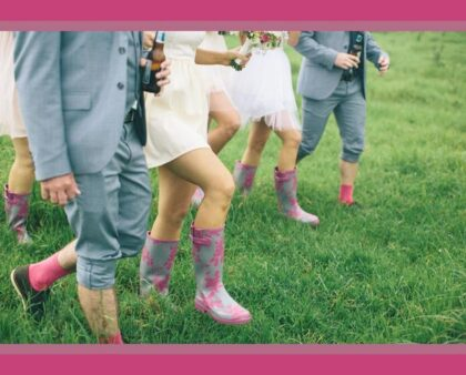 Protect your toes with these cute hand-painted gumboots.