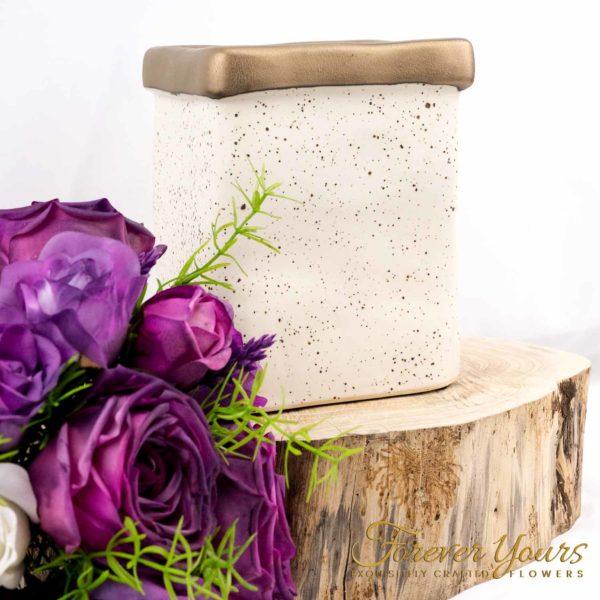 Hazel Ceramic Vase with Artificial Flower arrangement, pottery, handmade, home decor