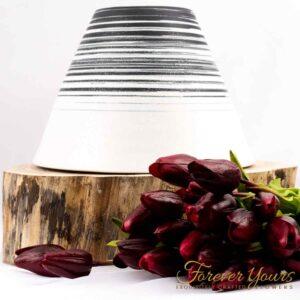 Karter Volcano Vase, handmade ceramics, pottery, home decor, artificial flowers