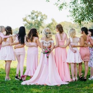 Bridesmaids, bridal party, dresses,