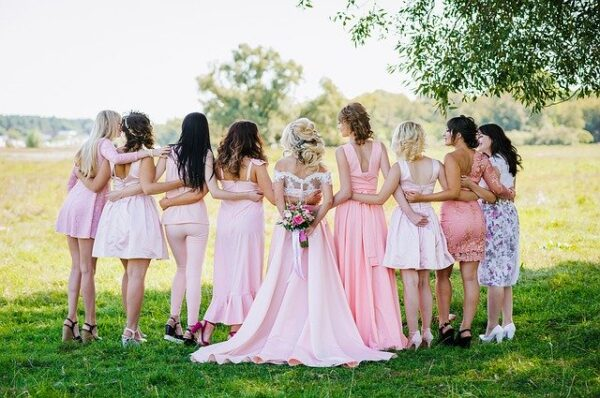 Bridesmaids, bridal party, dresses,