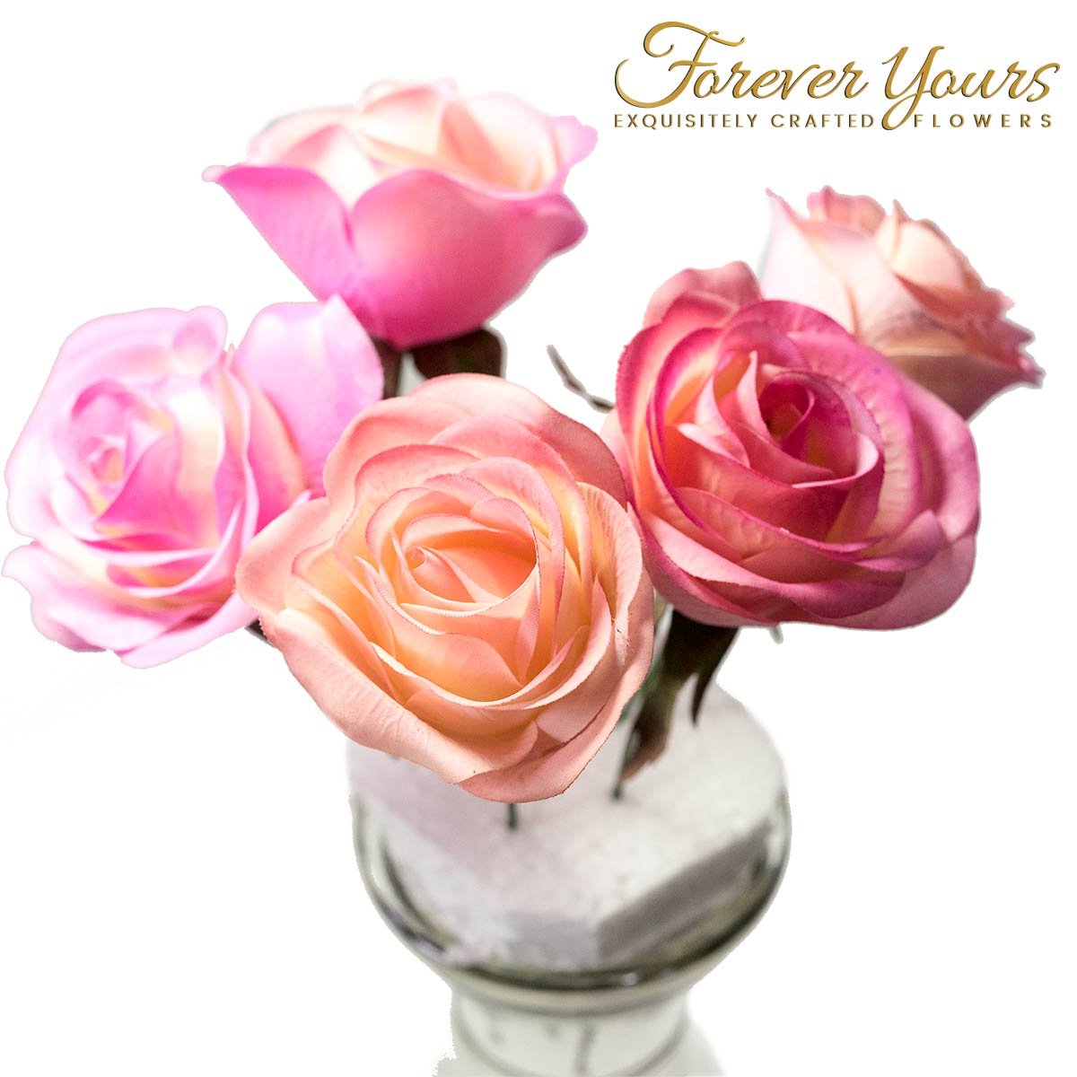 Pink Variation Real Touch Rose