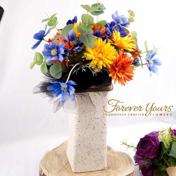 ceramics, handmade, hand-crafted, pottery, home decor, plants, silk wedding flowers