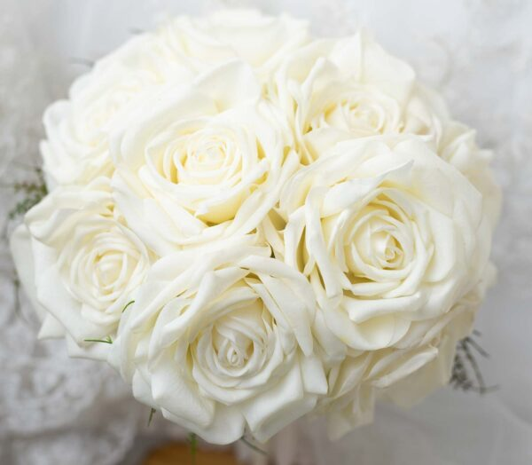 Large bridal white bouquet, ready to send today!