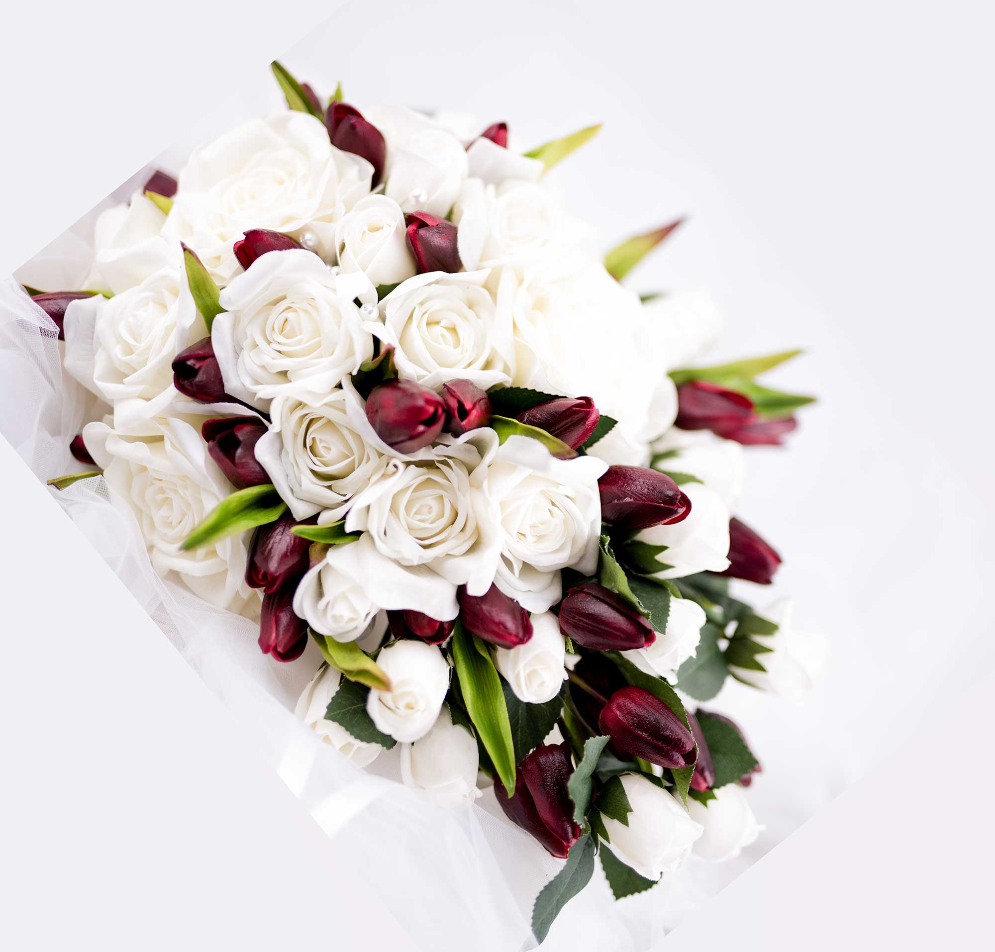 Real Touch & Silk Cascading Bouquet