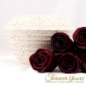 Hand-crafted Diamond Ceramic Vase pottery, handmade, home decor, artificial flowers