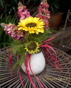 Hand-painted Sunflower Table Decoration-Ceramic Vase