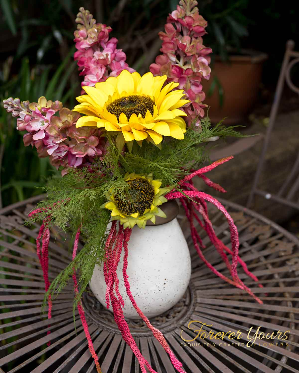 Hand-painted Sunflower Table Decoration-Ceramic Vase