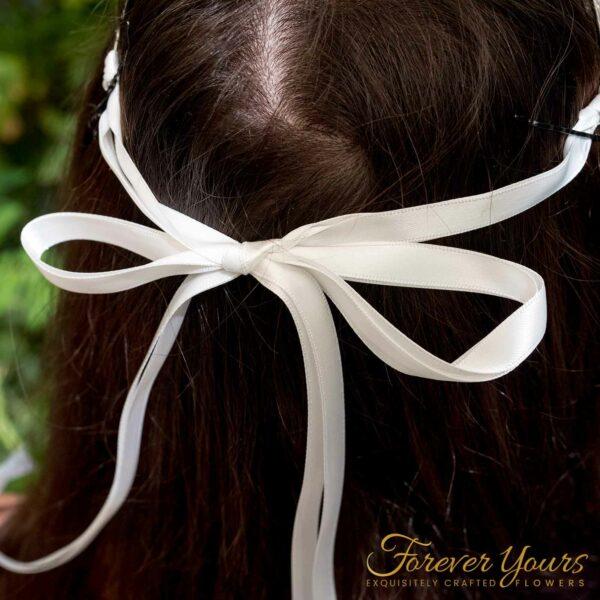 Crystal Tiara with ribbon