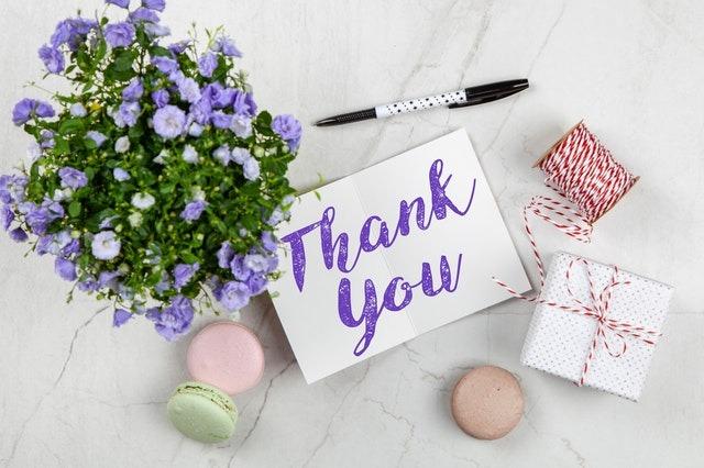 Wedding vendors, reviews, thank you, thank you notes