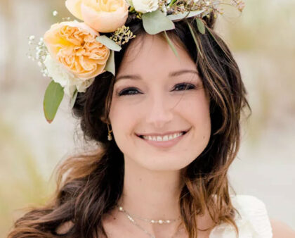 Wedding Flowers and Floral Crowns are the perfect match.
