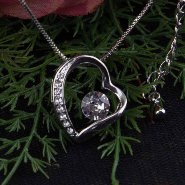 Silver Crystal Heart Pendant