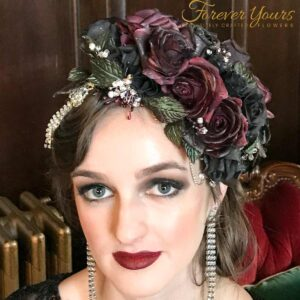 Winter Romance Headpiece, artificial flowers, wedding, fascinator