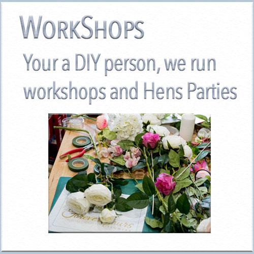 Of course you wanted to learn how to create your own special bouquet. Our Head Designer Beryl can teach you how to create something that is uniquely yours. Just some of the things we can teach are design, choosing colour and bouquet development.