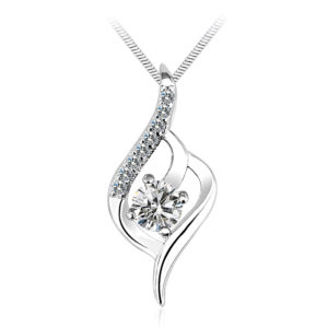 Rhodium Plated Crystal Necklaces