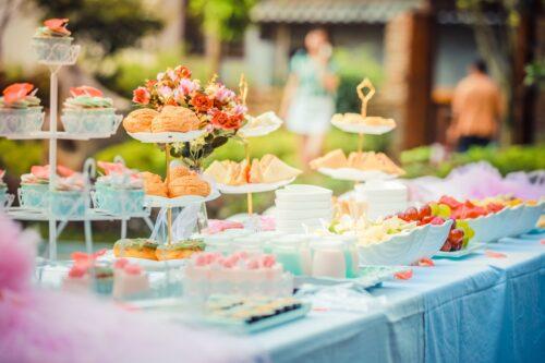 backyard wedding, high tea, casual wedding, afternoon tea, morning tea