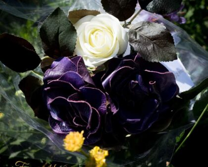 Purple Leather Rose